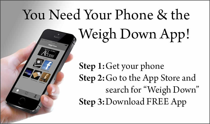Download the Weigh Down App!